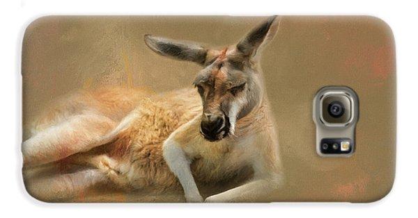 Monday Morning Drowsies Kangaroo Art Galaxy S6 Case by Jai Johnson