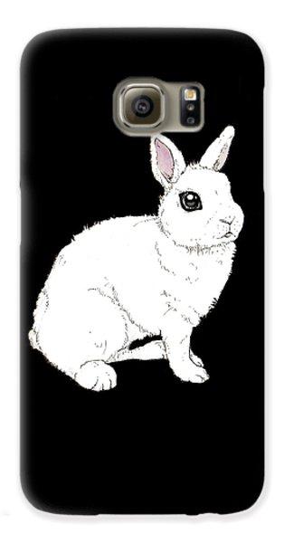 Monochrome Rabbit Galaxy S6 Case by Katrina Davis