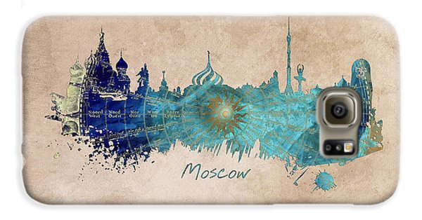 Moscow Skyline Wind Rose Galaxy S6 Case by Justyna JBJart