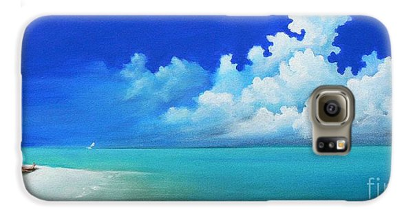Nap On The Beach Galaxy Case by Susi Galloway