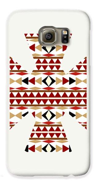 Navajo White Pattern Art Galaxy S6 Case by Christina Rollo