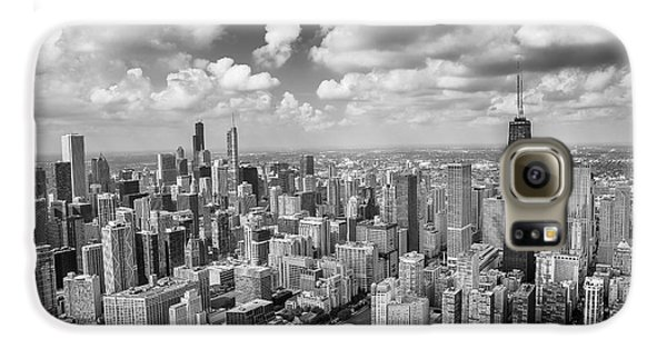 Near North Side And Gold Coast Black And White Galaxy S6 Case by Adam Romanowicz
