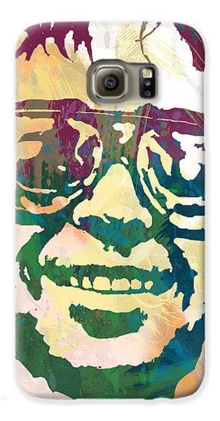 Neil Young Pop Stylised Art Poster Galaxy S6 Case by Kim Wang