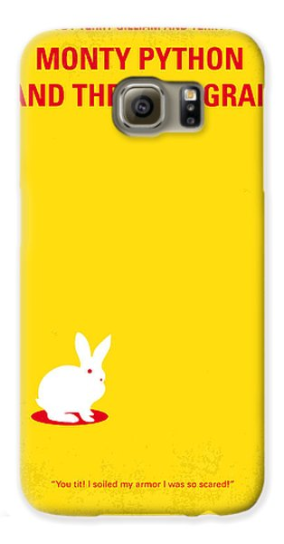 No036 My Monty Python And The Holy Grail Minimal Movie Poster Galaxy S6 Case by Chungkong Art