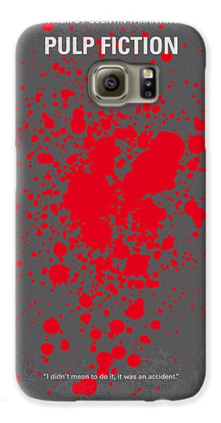 No067 My Pulp Fiction Minimal Movie Poster Galaxy S6 Case by Chungkong Art