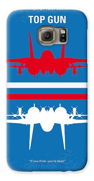 No128 My Top Gun Minimal Movie Poster Galaxy S6 Case by Chungkong Art