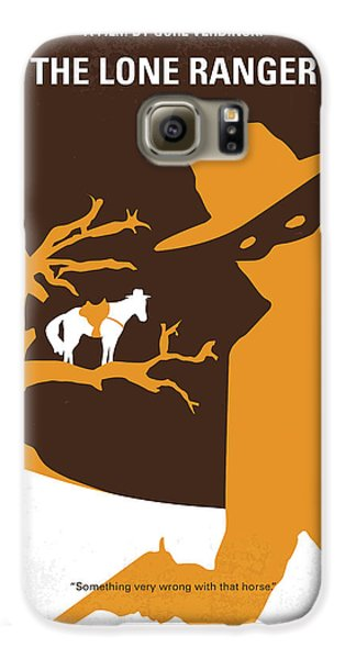No202 My The Lone Ranger Minimal Movie Poster Galaxy S6 Case by Chungkong Art