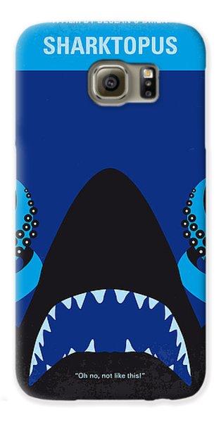 No485 My Sharktopus Minimal Movie Poster Galaxy S6 Case by Chungkong Art