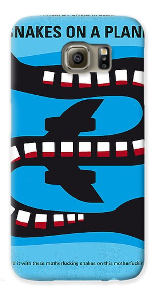 No501 My Snakes On A Plane Minimal Movie Poster Galaxy S6 Case by Chungkong Art