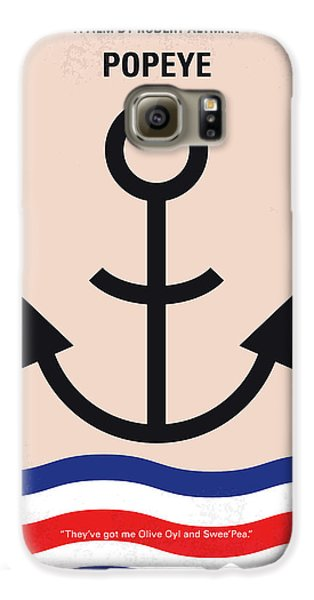 No648 My Popeye Minimal Movie Poster Galaxy S6 Case by Chungkong Art