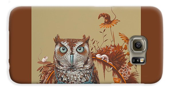 Northern Screech Owl Galaxy S6 Case by Jasper Oostland