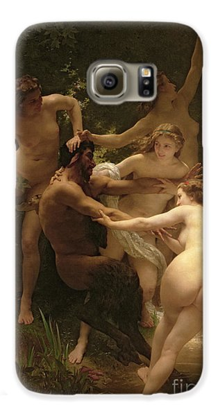 Nymphs And Satyr Galaxy S6 Case by William Adolphe Bouguereau