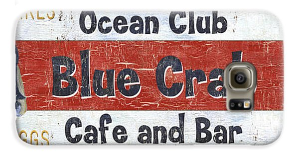 Ocean Club Cafe Galaxy S6 Case by Debbie DeWitt
