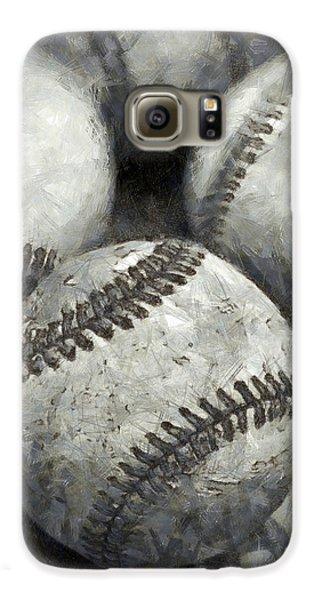 Old Baseballs Pencil Galaxy S6 Case by Edward Fielding