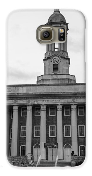 Old Main Penn State Black And White Galaxy S6 Case by John McGraw