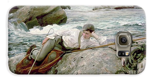 On His Holidays Galaxy S6 Case by John Singer Sargent