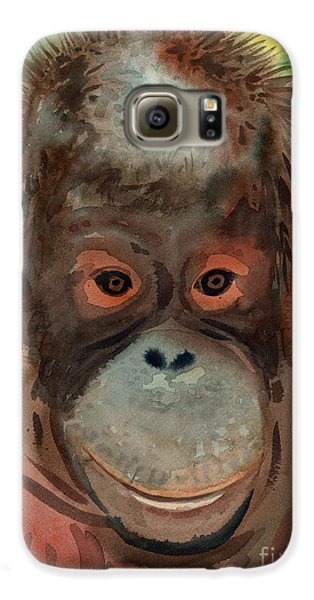 Orangutan Galaxy S6 Case by Donald Maier