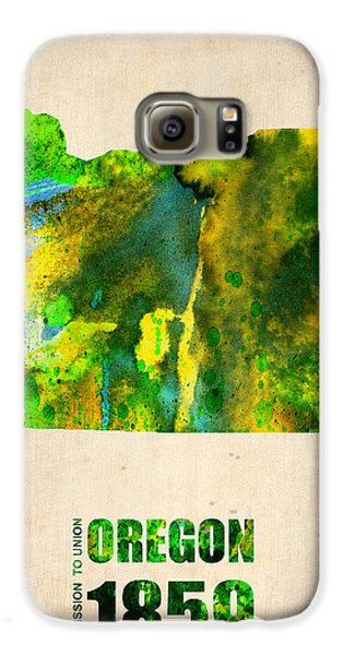 Oregon Watercolor Map Galaxy S6 Case by Naxart Studio
