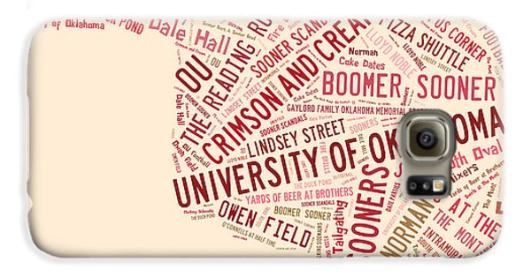 Ou Word Art University Of Oklahoma Galaxy S6 Case by Roberta Peake
