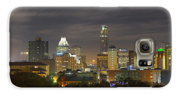 Panorama Of The Austin Skyline On A September Morning Galaxy S6 Case by Rob Greebon