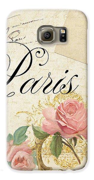 Parchment Paris - Timeless Romance Galaxy S6 Case by Audrey Jeanne Roberts