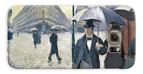 Paris A Rainy Day Galaxy S6 Case by Gustave Caillebotte