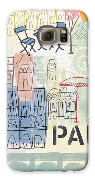 Paris Cityscape- Art By Linda Woods Galaxy S6 Case by Linda Woods