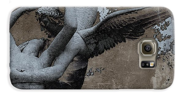 Paris Eros And Psyche - Surreal Romantic Angel Louvre   - Eros And Psyche - Cupid And Psyche Galaxy S6 Case by Kathy Fornal