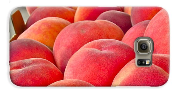 Peaches For Sale Galaxy S6 Case by Gwyn Newcombe