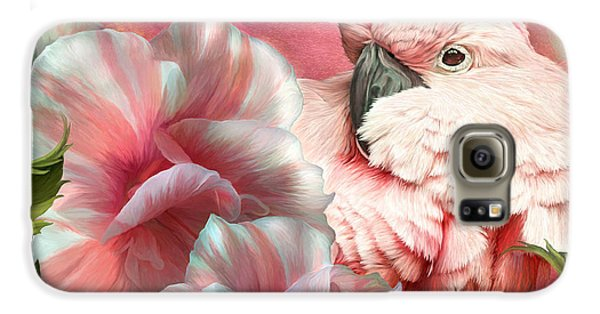 Peek A Boo Cockatoo Galaxy S6 Case by Carol Cavalaris