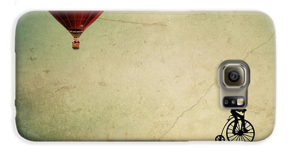 Penny Farthing For Your Thoughts Galaxy S6 Case by Irene Suchocki