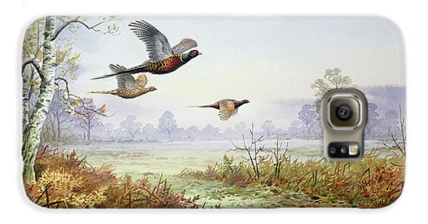 Pheasants In Flight  Galaxy S6 Case by Carl Donner