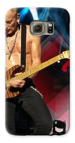Phil Collen Of Def Leppard 2 Galaxy S6 Case by David Patterson