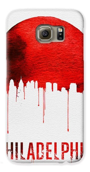 Philadelphia Skyline Redskyline Red Galaxy S6 Case by Naxart Studio