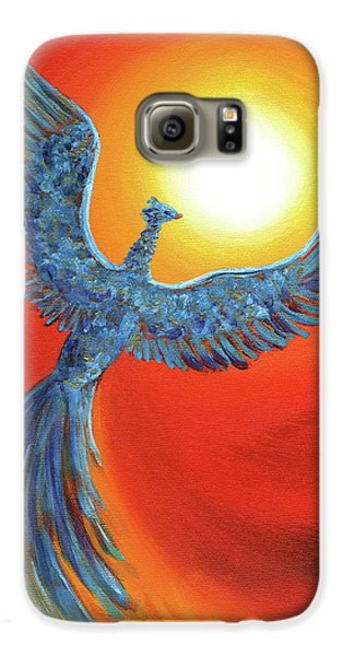 Phoenix Rising Galaxy S6 Case by Laura Iverson