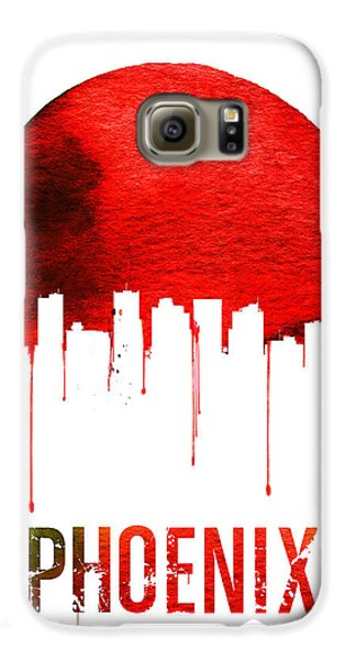 Phoenix Skyline Red Galaxy S6 Case by Naxart Studio