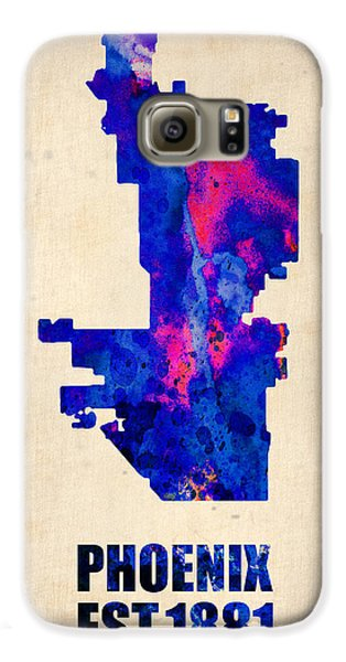 Phoenix Watercolor Map Galaxy S6 Case by Naxart Studio