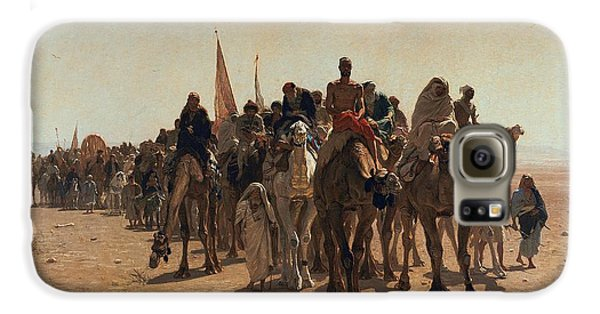 Pilgrims Going To Mecca Galaxy S6 Case by Leon Auguste Adolphe Belly