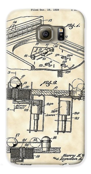 Pinball Machine Patent 1939 - Vintage Galaxy S6 Case by Stephen Younts