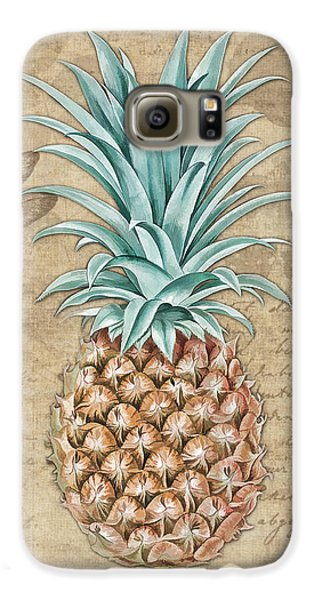 Pineapple, Ananas Comosus Vintage Botanicals Collection Galaxy S6 Case by Tina Lavoie