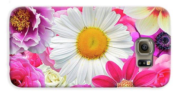 Pink Flowers  Galaxy S6 Case by Gloria Sanchez