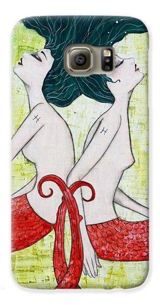Pisces Mermaids Galaxy S6 Case by Natalie Briney