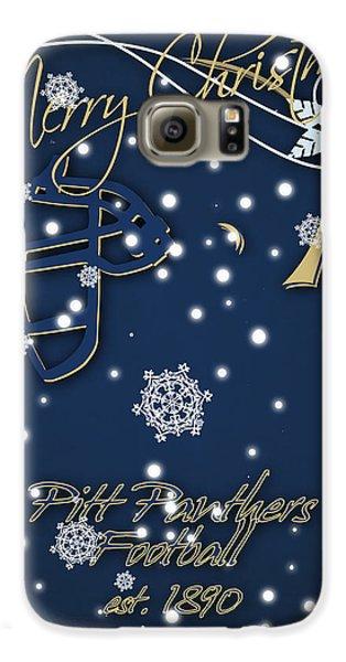 Pitt Panthers Christmas Cards Galaxy S6 Case by Joe Hamilton