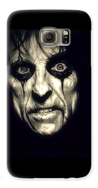 Poison Alice Cooper Galaxy S6 Case by Fred Larucci