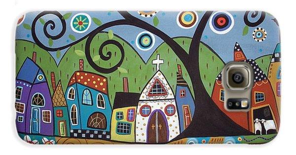 Polkadot Church Galaxy S6 Case by Karla Gerard