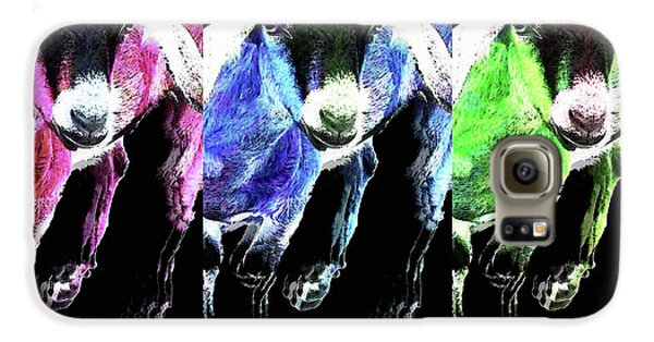 Pop Art Goats Trio - Sharon Cummings Galaxy S6 Case by Sharon Cummings
