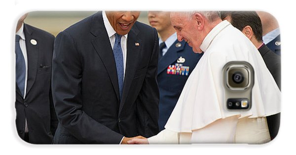 Pope Francis And President Obama Galaxy S6 Case by Mountain Dreams