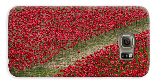 Poppies Of Remembrance Galaxy S6 Case by Martin Newman