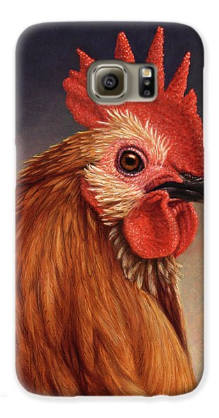 Portrait Of A Rooster Galaxy S6 Case by James W Johnson