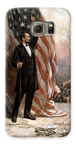 President Abraham Lincoln Giving A Speech Galaxy S6 Case by War Is Hell Store